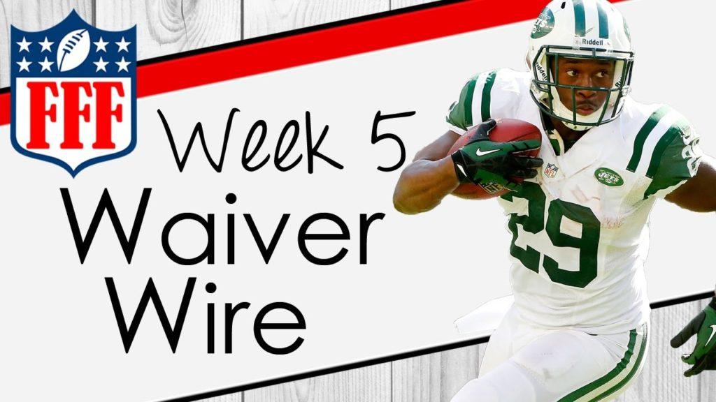 Week 5 Waiver Wire Pickups – 2016 Fantasy Football