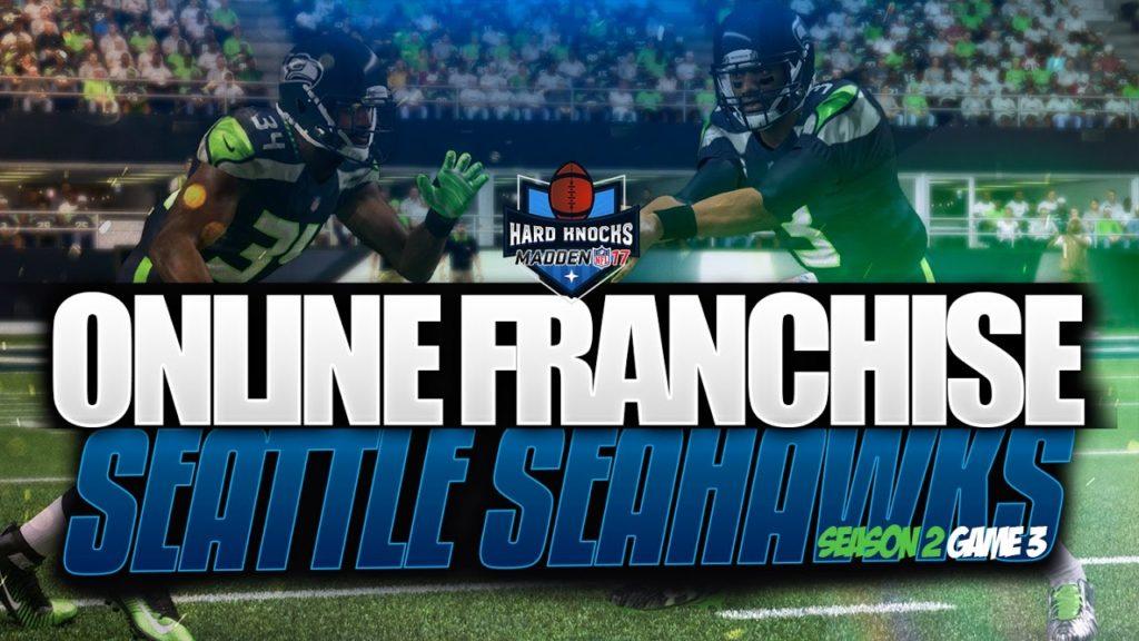 "Madden 17 Online Franchise Seahawks Season 2 ""Hard Knocks vs Cardinals"""