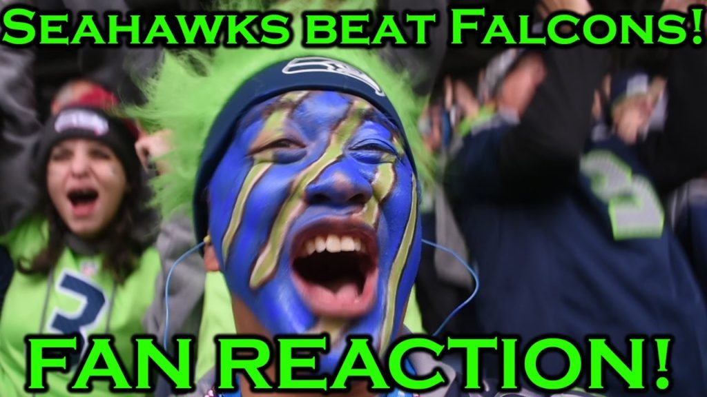 Fan Reaction: Seahawks Defeat the Falcons 26-24! Full game, NorbCam Selfie View)