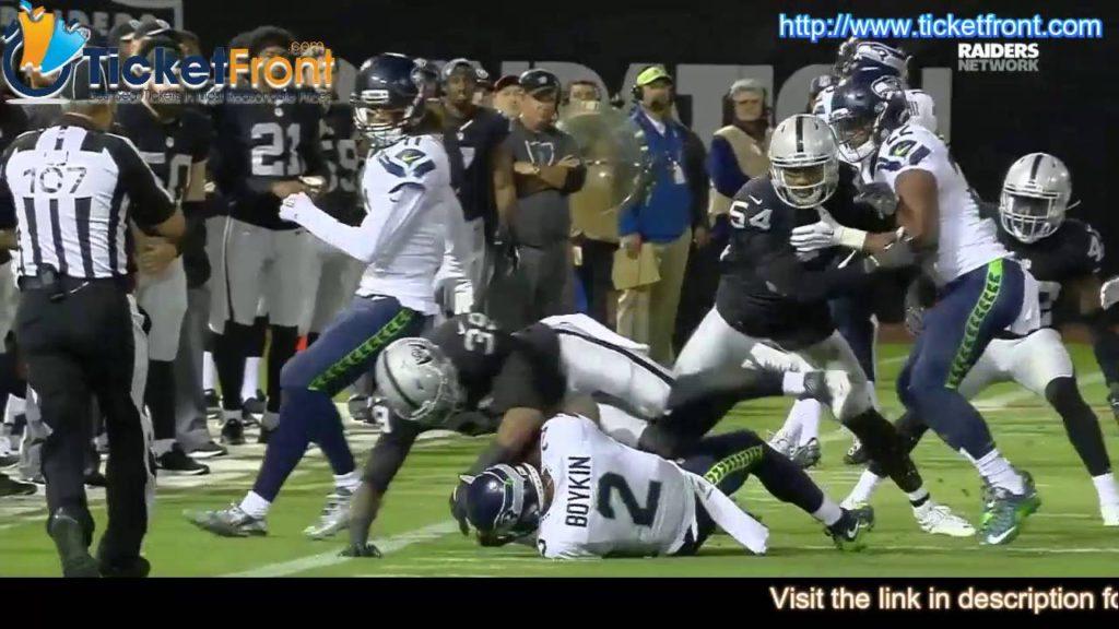 $$ Game Highlights – Seattle Seahawks vs. Raiders $$