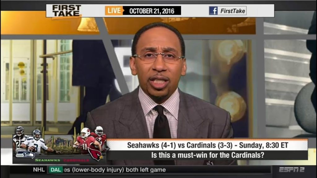 ESPN First Take Today 10/21/2016 – Seattle Seahawks vs. Arizona Cardinals : Who Wins?