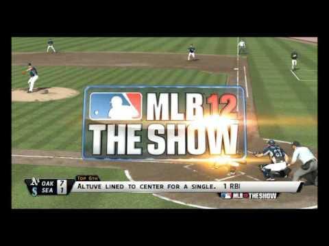 MLB 12 The Show Highlights: Athletics vs Mariners
