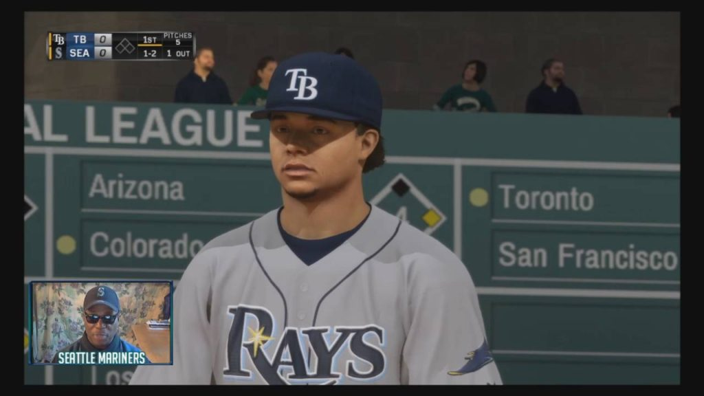 MLB16 Franchise  – The Mariners Vs The Tampa Bay Rays – Only 1st Inning