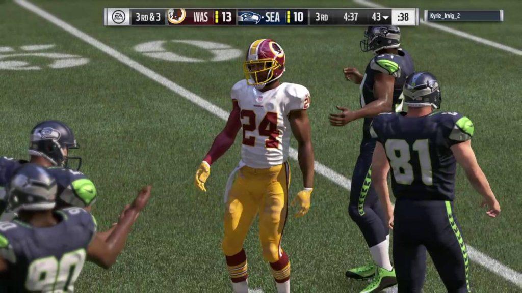 Madden NFL 17_20161021 Redskins (me) v Seahawks Online Pt 3 of 5