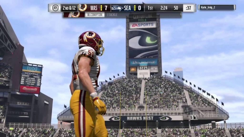 Madden NFL 17_20161021 Redskins (me) v Seahawks Online Pt 2 of 5
