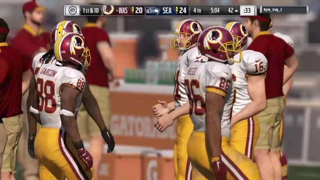 Madden NFL 17_20161021 Redskins (me) v Seahawks Online Pt 4 of 5