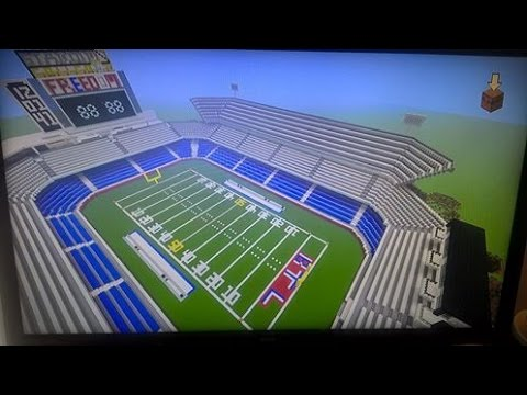"""MINECRAFT HOW TO BUILD A NFL FOOTBALL STADIUM EPISODE 2! """"BEST TUTORIAL ON YOUTUBE"""""""