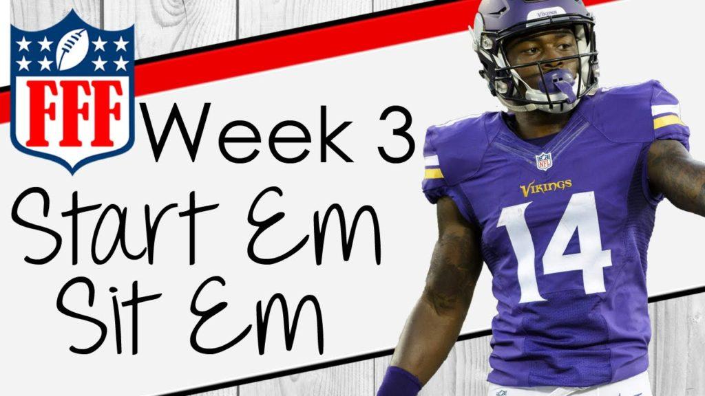 Week 3 Start'Em Sit'Em – 2016 Fantasy Football