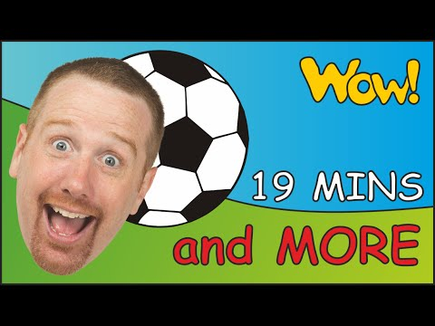 Football at the Park + MORE | Story time for Children | 19 Minutes Compilation English ESL Stories