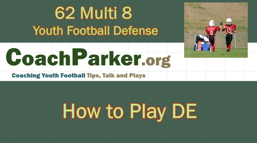 How to Play DE in the 62 Multi 8 Youth Football Defense