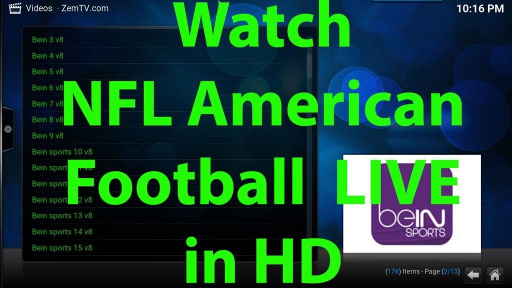Watch American Football NFL LIVE in HD for FREE on KODI XBMC 2016