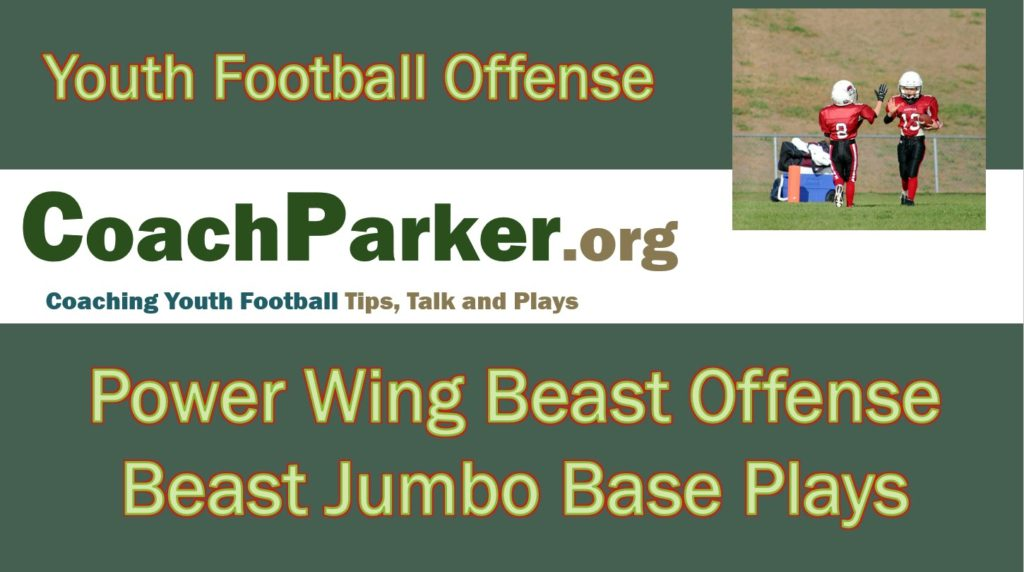 Beast Offense Plays – Jumbo Formation – Youth Football Playbook by Coach Parker