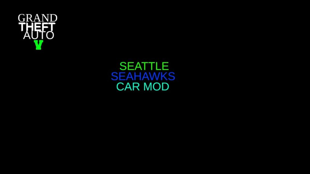 GTA V SEATTLE SEAHAWKS CAR MOD!!!!!!
