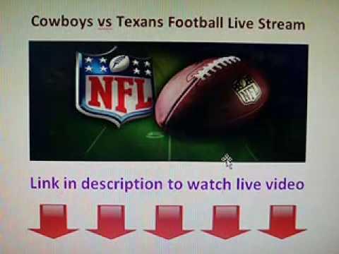 Dallas Cowboys vs Houston Texans live stream NFL Football game