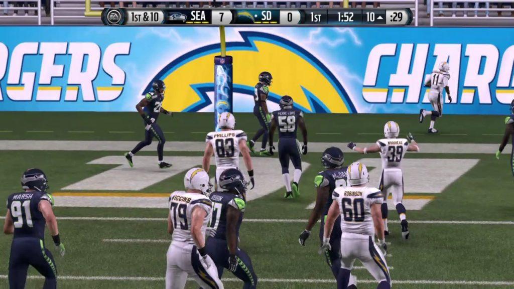 Madden NFL 16 Brad Sorensen MyCareer Preseason Game vs Seahawks