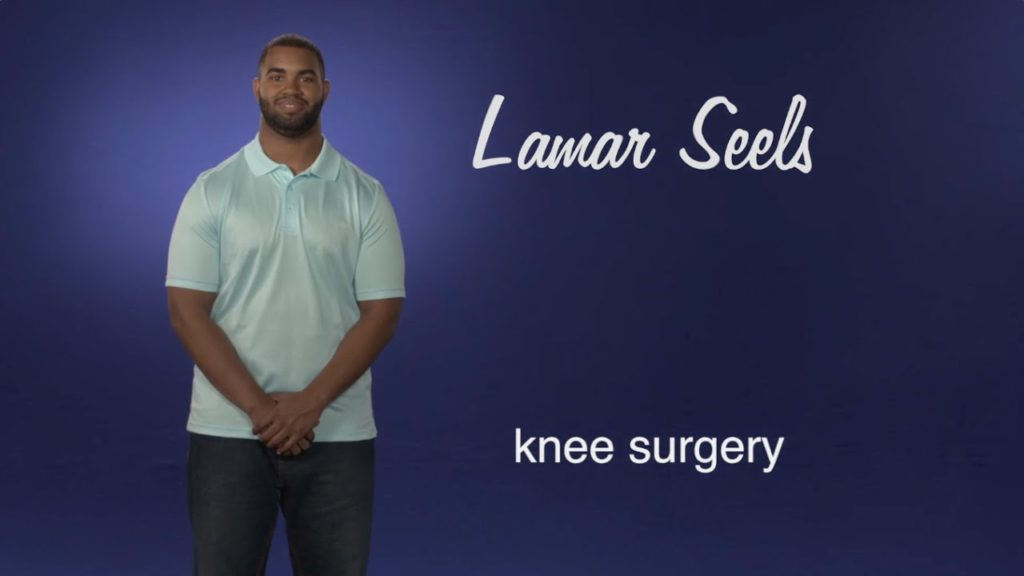 Lamar Seels: No one thought I'd play football again after my knee injury.