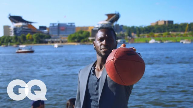 Antonio Brown Plays Football (And Dances) in the Streets of Pittsburgh | GQ