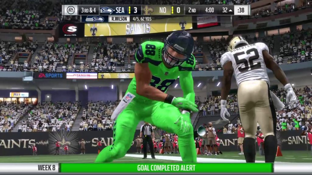 Season 8 – Week 8: Seattle Seahawks vs New Orleans Saints