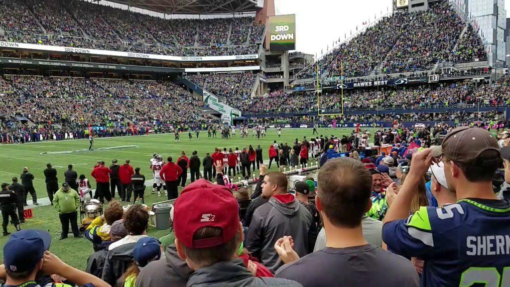 Seahawks stadium intense noise!
