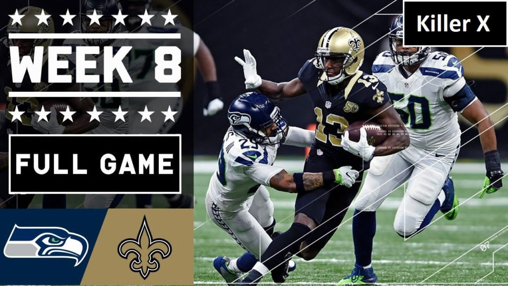 Seattle Seahawks vs New Orleans Saints  FULL GAME | Week 8 Full Replay | NFL – Oct 30, 2016