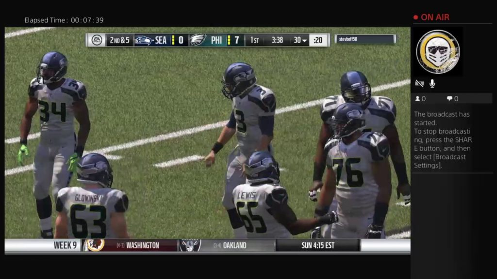 Madden 17 CGL '17 Season Week 9 vs Seahawks
