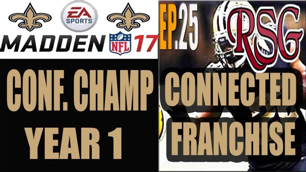 Madden 17 Saints Connected Franchise – Ep.25 (Y1,Conf. Finals) vs Seahawks