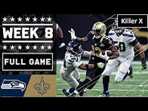 Seahawks vs Saints Full Game  Full Game | Week 8 | NFL 2016 Replay