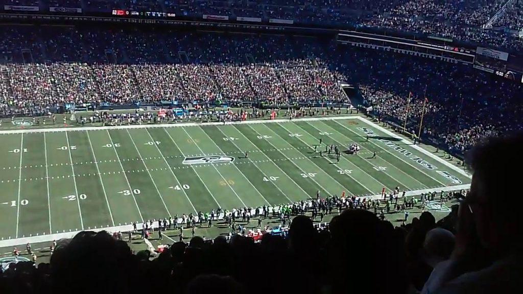 Century link field Seahawks game! Loud!