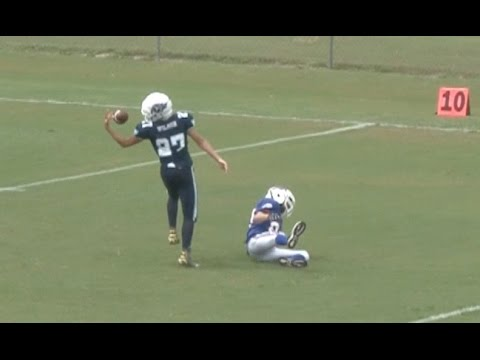 Incredible behind-the-back juggling touchdown catch – youth football highlights