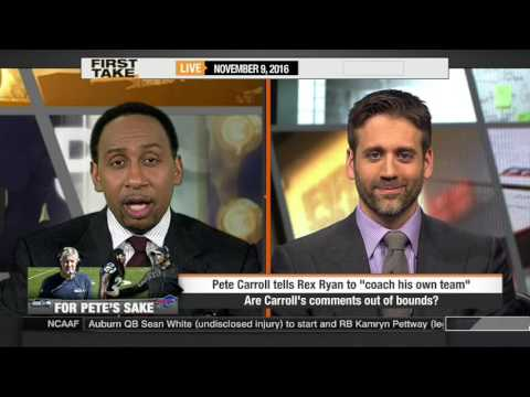 ESPN FIRST TAKE (11/9/2016) SEATTLE SEAHAWKS PETE CARROLL TO REX RYAN: COACH YOUR OWN TEAM