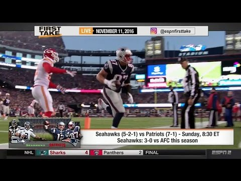 ESPN First Take – New England Patriots vs Seattle Seahawks: Is This A Super Bowl Preview?