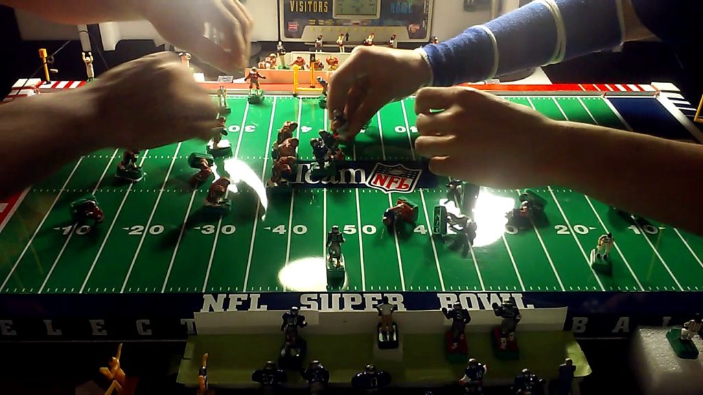 Electric football Seahawks Big run from FB .