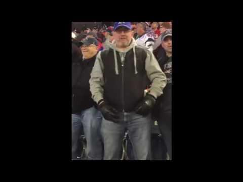 Patriots Fan Chew Out Seahawks Fan After Game