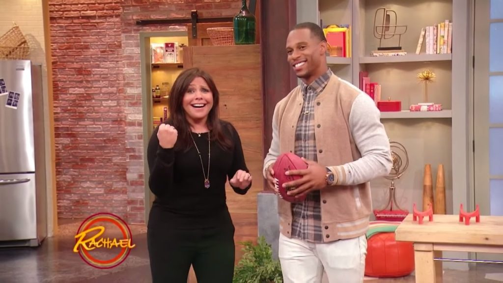 Watch Rach Play Football with Giants Comeback Kid Victor Cruz
