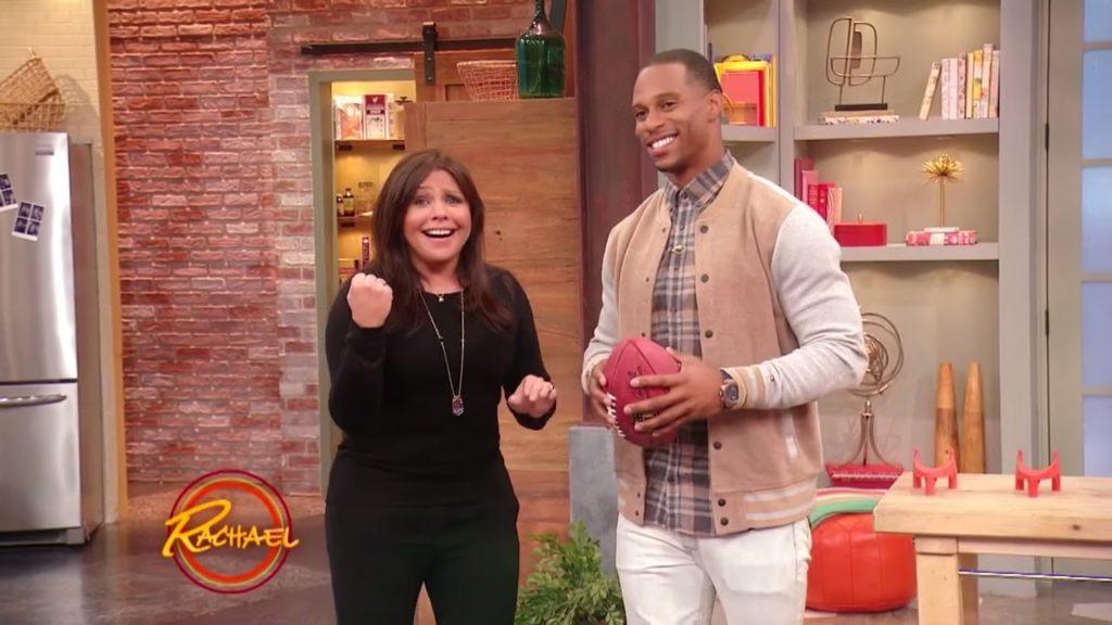 Watch Rach Play Football with Giants Comeback Kid Victor Cruz