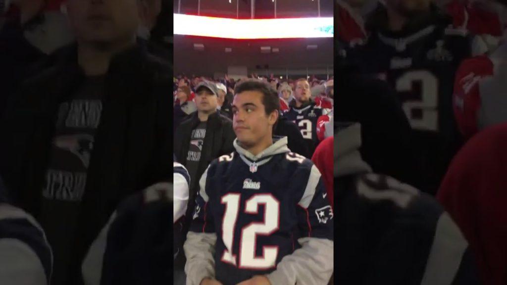 *HUGE FIGHT* Patriots fan CUSS OUT a FEMALE Seahawks fan for talking trash WORLDSTAR 2016