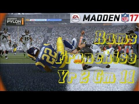 Madden 17 LA Rams Franchise Yr 2 – gm 11 vs Seattle Seahawks