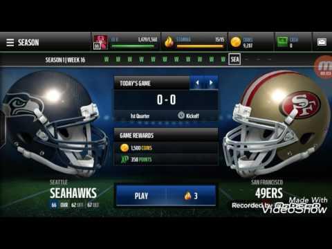 Seattle Seahawks vs. sanfrancisco 49ers Madden mobile
