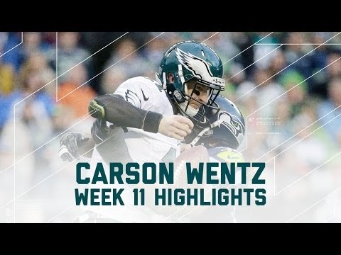 NFL 2016 Eagles vs Seahawks (Week 11) – Carson Wentz Highlights