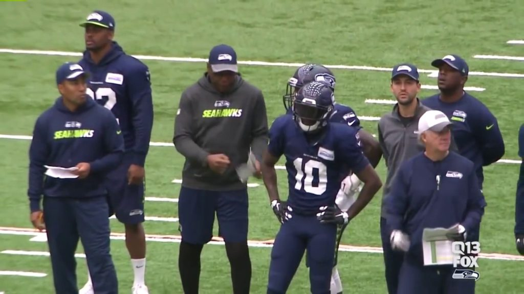 Sherman Smith (Seahawks RB Coach) Mic'd Up