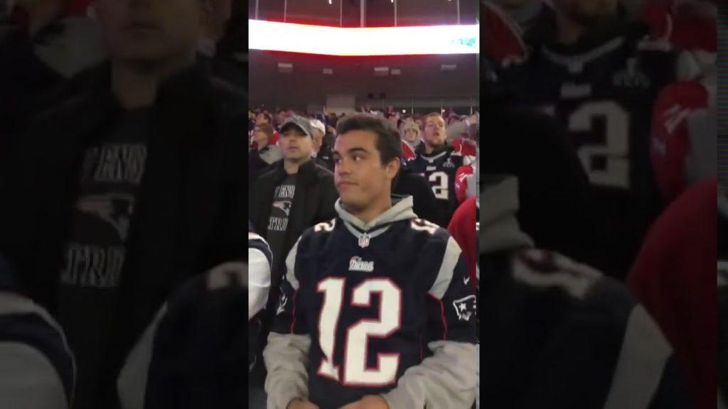 *HUGE FIGHT* Patriots fan CUSS OUT a FEMALE Seahawks fan for talking trash WORLDSTAR