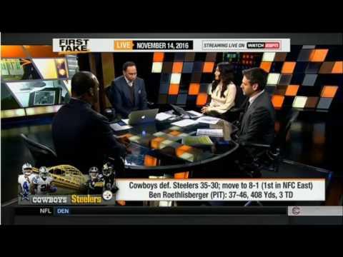 ESPN First Take Today   NFL Week 10  Cowboys defeat Steelers & Seahawks Def  Patriots