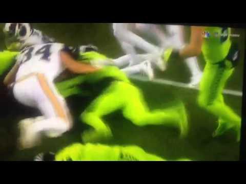 Jon ryan's fake punt run |seattle Seahawks vs rams