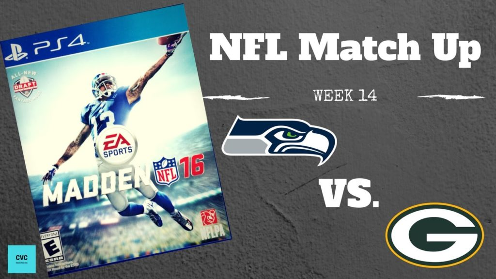 NFL Match Up Week 14   Seattle Seahawks vs Green Bay Packers   PS4   Madden 16