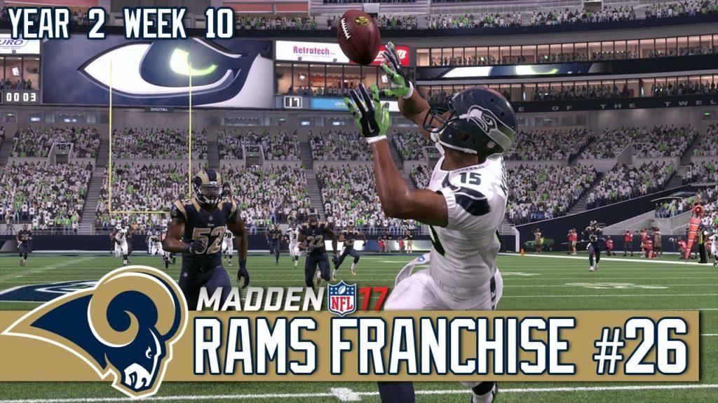 Madden NFL 17 Los Angeles Rams Franchise #26 | Year 2 Week 10 @ Seattle Seahawks