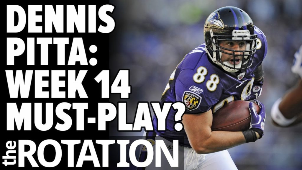 2016 Fantasy Football: Dennis Pitta the Sneakiest Play of Week 14? w/ Michael Beller | The Rotation