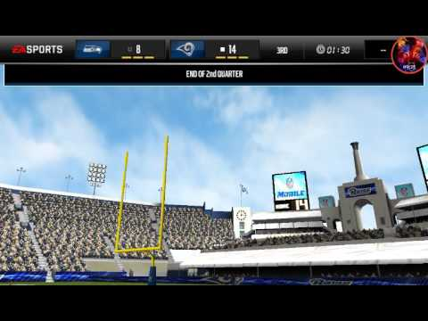 SEAHAWKS VS THE RAMS MADDEN MOBILE