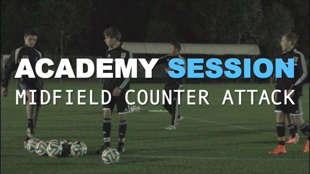 Football Academy Session 6  – Counter Attacking from Midfield