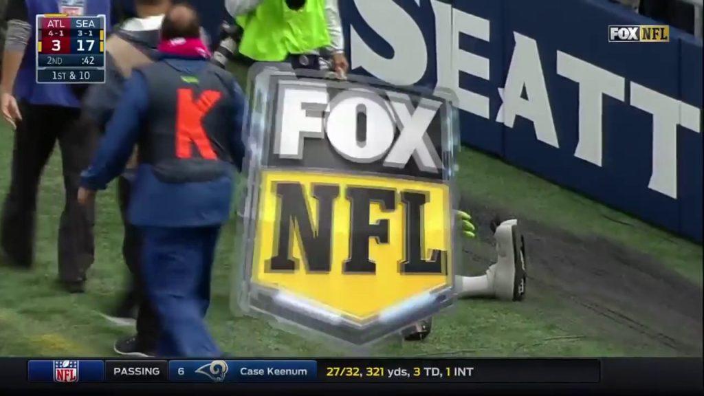 Seahawks Rush the Mascot, Blitz, in Celebration!   Falcons vs. Seahawks   NFL- NFL Highlights