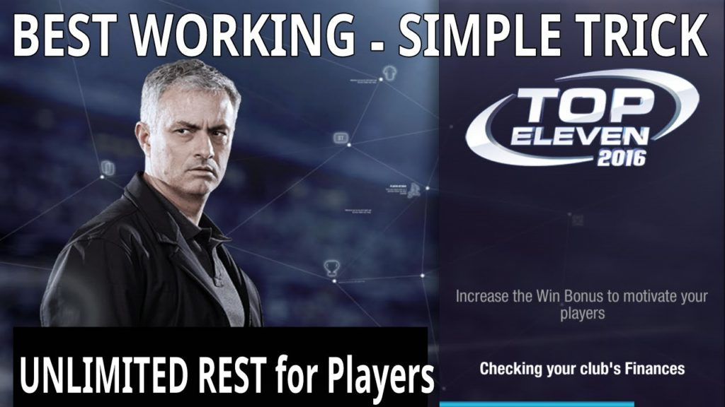 How to get UNLIMITED REST for your players on TOP ELEVEN FOOTBALL MANAGERS